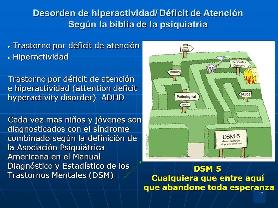 2 Trastorno por déficit de atención Trastorno por déficit de atención Hiperactividad Hiperactividad Trastorno por déficit de atención e hiperactividad