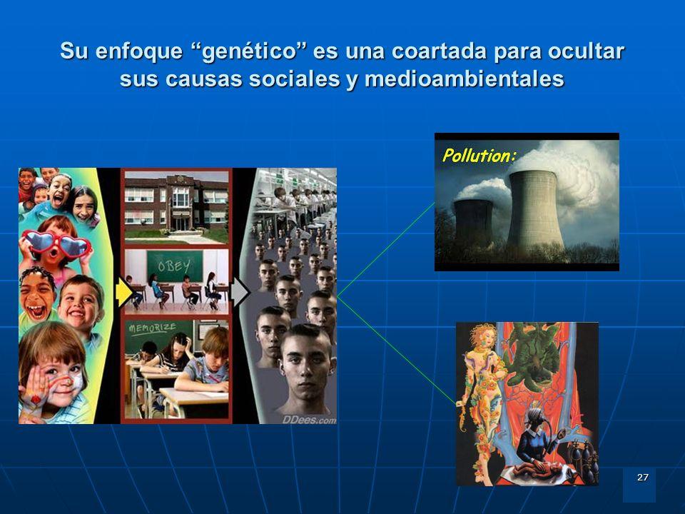 27 Su enfoque genético es una coartada para ocultar sus causas sociales y medioambientales