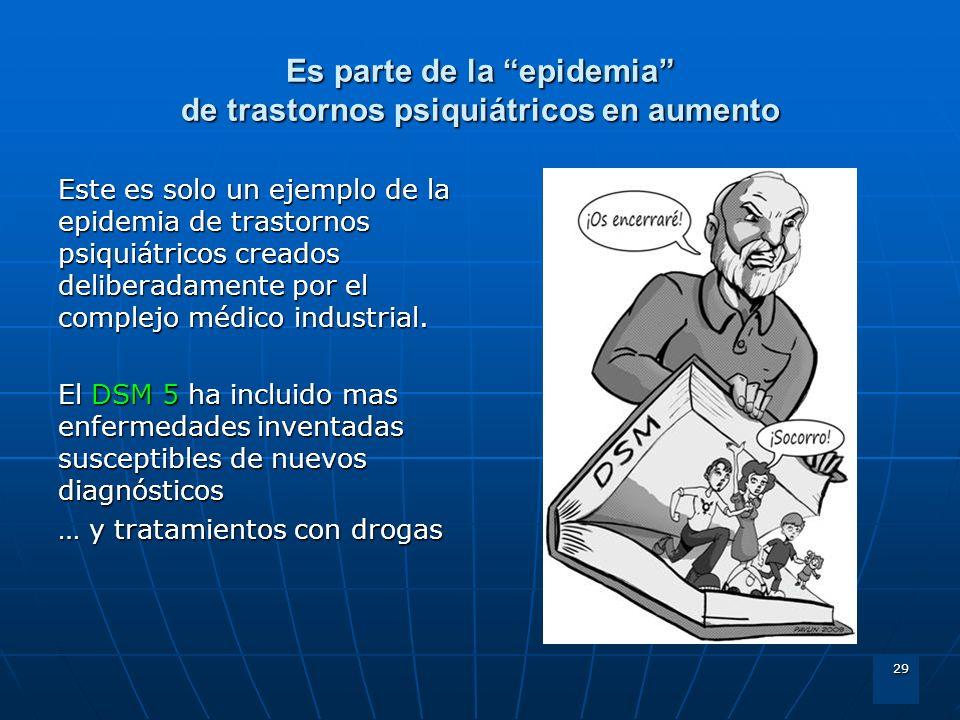 29 Es parte de la epidemia de trastornos psiquiátricos en aumento Este es solo un ejemplo de la epidemia de trastornos psiquiátricos creados deliberad
