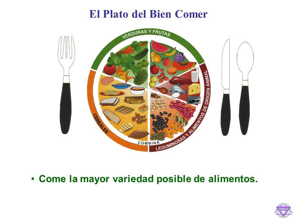 El Plato del Bien Comer Come la mayor variedad posible de alimentos.
