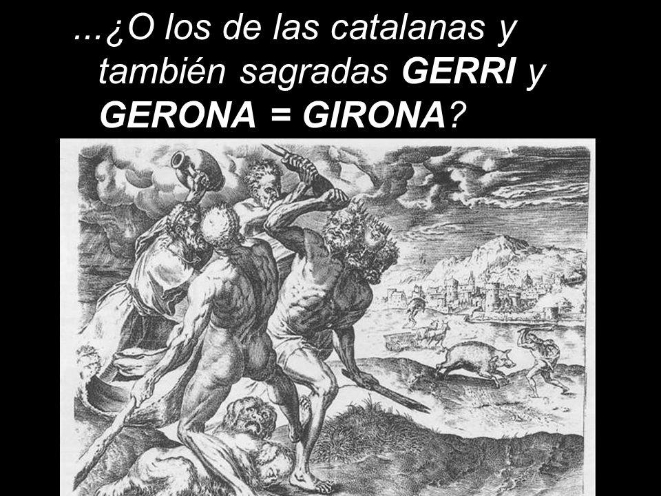 ¿De dónde, si no es de Jerión = Gerión (primer Rey-Dios mítico de Iberia), proceden los nombres de JERUSALÉN y de JERICÓ