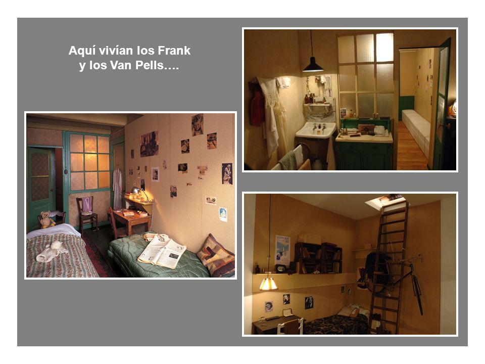 Aquí vivían los Frank y los Van Pells….