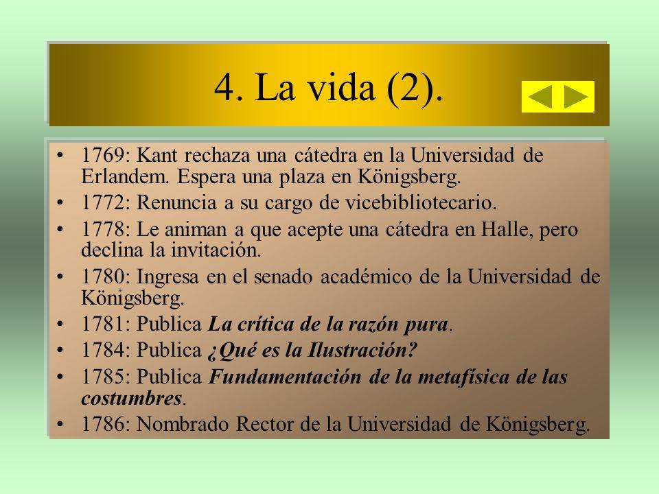 4.La vida (y 3). 1787: Segunda edición de la Crítica de la razón pura.