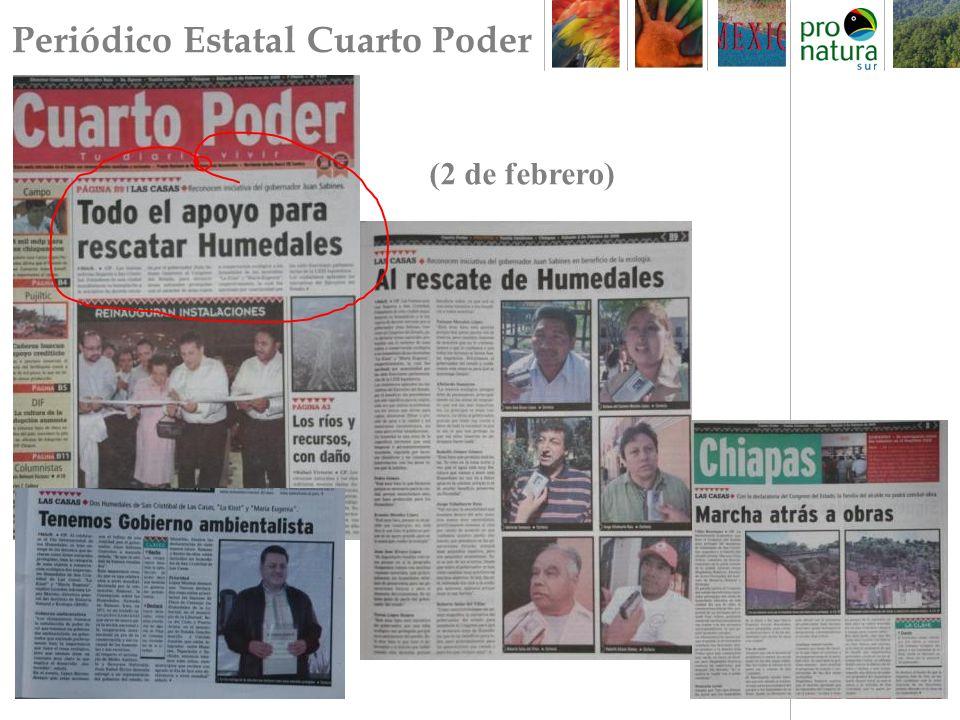 Periódico Estatal Cuarto Poder (2 de febrero)