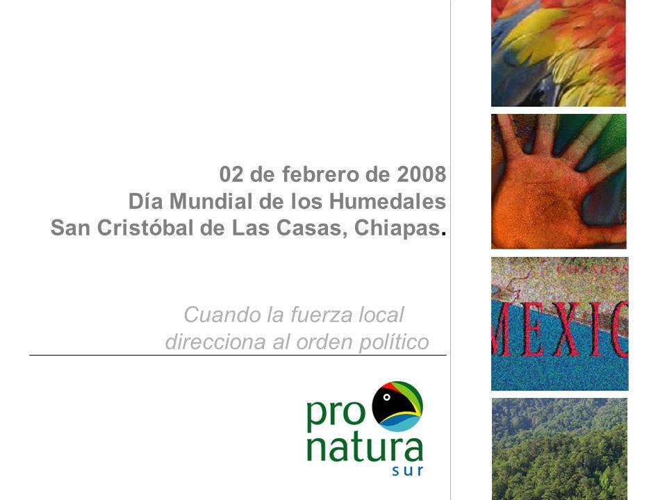 02 de febrero de 2008 Día Mundial de los Humedales San Cristóbal de Las Casas, Chiapas.