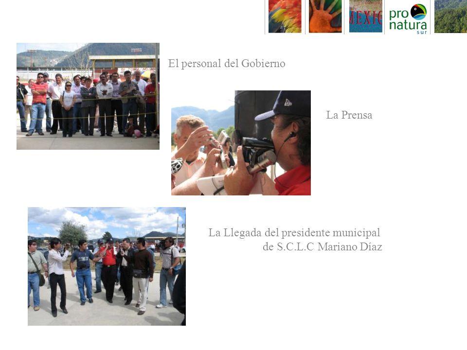 El personal del Gobierno La Prensa La Llegada del presidente municipal de S.C.L.C Mariano Díaz