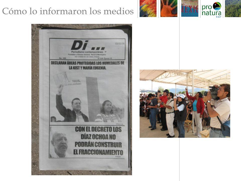 http://www.multimedios.tv/noticias/2008/02/01/garantiza-congreso-de-chiapas-preservación-de-humedales Garantiza Congreso de Chiapas preservación de humedales 01/02/2008 11:02 La legisladora local reconoció que la iniciativa aprobada es importante para San Cristóbal y la gente puede estar tranquila, pues no habrá más construcciones, para bien de las nuevas generaciones .