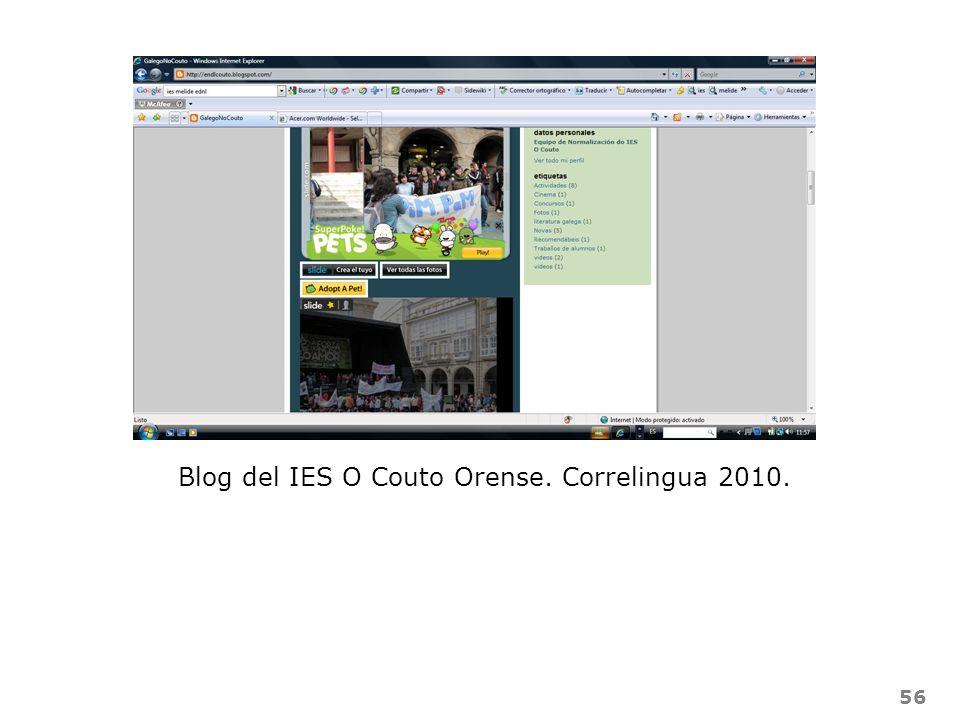 56 Blog del IES O Couto Orense. Correlingua 2010.