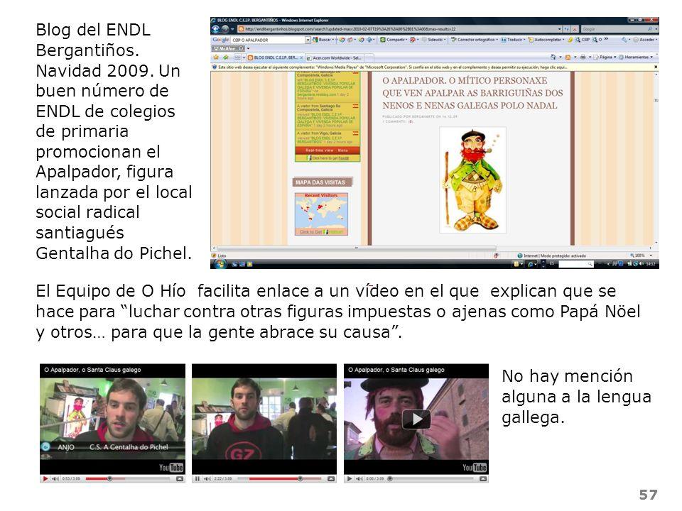57 Blog del ENDL Bergantiños. Navidad 2009. Un buen número de ENDL de colegios de primaria promocionan el Apalpador, figura lanzada por el local socia
