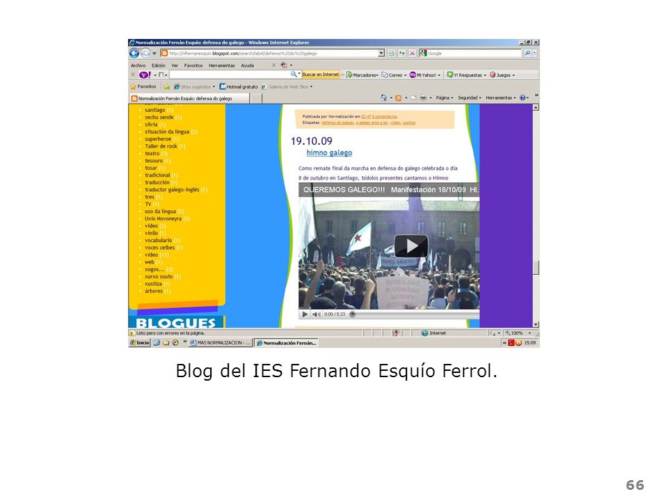 66 Blog del IES Fernando Esquío Ferrol.