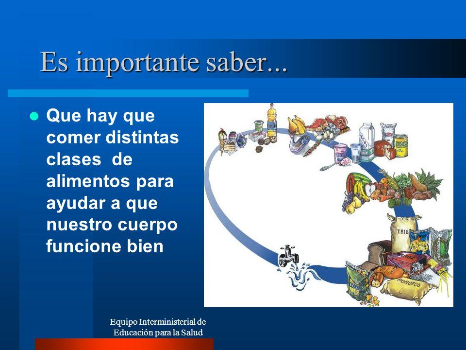 Equipo Interministerial de Educación para la Salud ATENCIÓN!!.