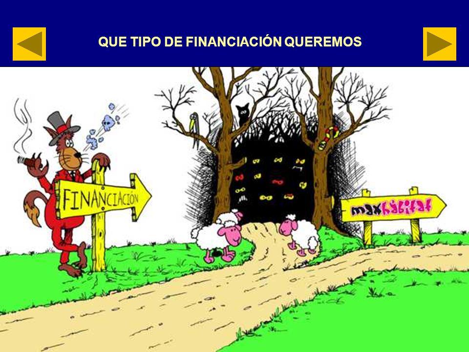 QUE TIPO DE FINANCIACIÓN QUEREMOS
