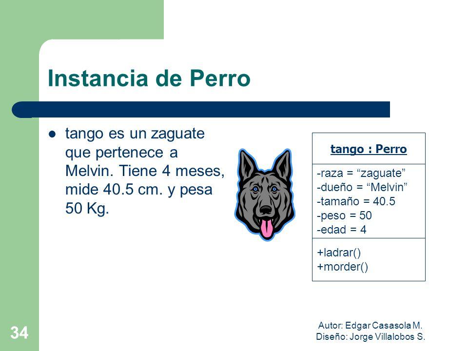Autor: Edgar Casasola M. Diseño: Jorge Villalobos S. 34 Instancia de Perro tango es un zaguate que pertenece a Melvin. Tiene 4 meses, mide 40.5 cm. y