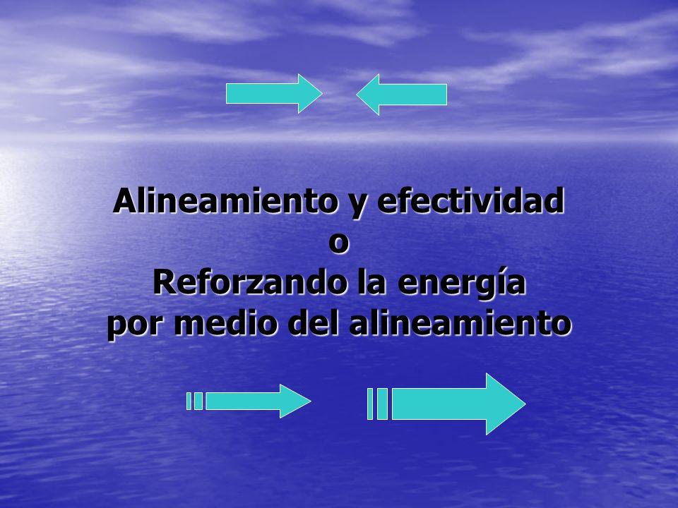 Reforzar la energía por medio del alineamiento consiste en: Crear un ambiente en el cual el entendimiento y el compromiso con la visión son evidentes en todos los aspectos de la congregación