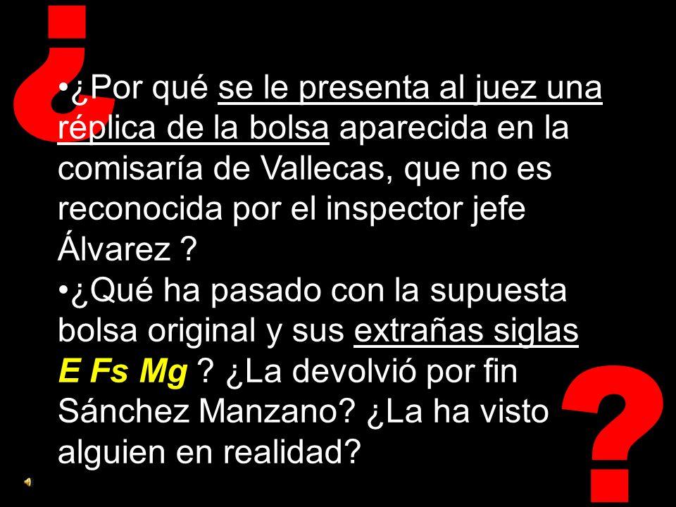 ¿ ¿Por qué aparece en la furgoneta de Alcalá una bolsa con detonadores y un poco de explosivo, si con la misma transportaron las mochilas-bomba ya montadas desde Morata.