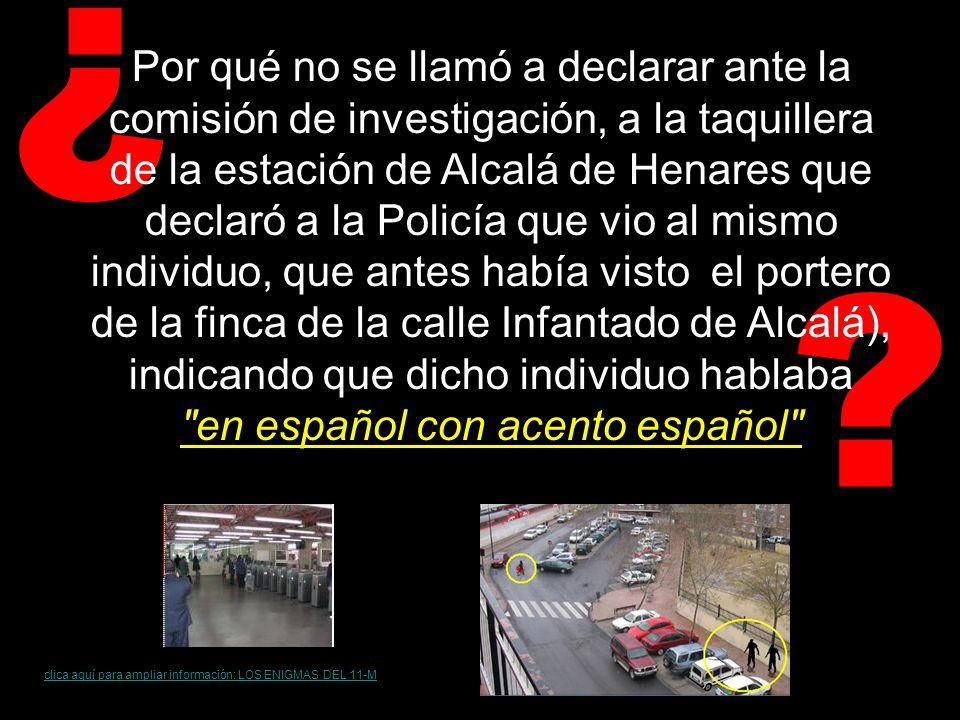 ¿ Por qué el jefe de los Tedax, Sánchez Manzano, emitió un informe el 12 de marzo de 2004 en el que aseguraba que los explosivos de la furgoneta Renault Kangoo, y de la mochila de Vallecas, eran idénticos Goma 2 Eco y año y medio después se pudo saber que esta información era falsa y que los informes de la Policía Científica habían sido supuestamente manipulados por el propio Sánchez Manzano, puesto que la mochila sólo contenía Goma 2 Eco y en la furgoneta se encontró metenamina, además de los componentes normales de la Goma 2 Eco