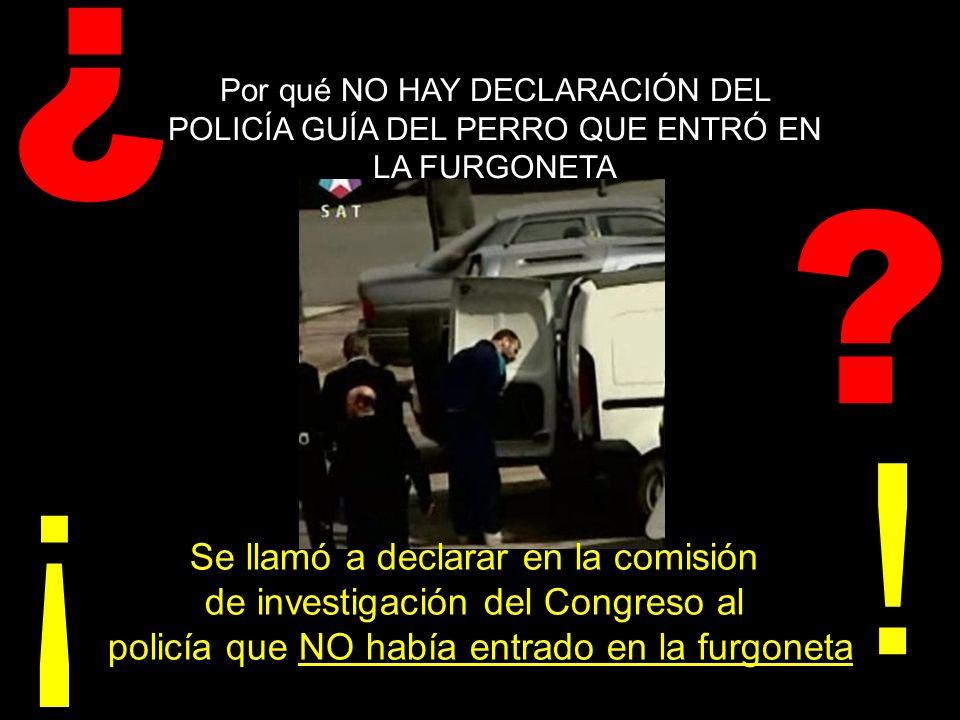 ¿ Por qué se ocultó que en los restos de explosivo hallados en la furgoneta Kangoo de Alcalá había un producto químico utilizado para fabricar el explosivo militar RDX (metenamina), y se nos dijo que era el mismo que el aparecido en la bolsa de Vallecas