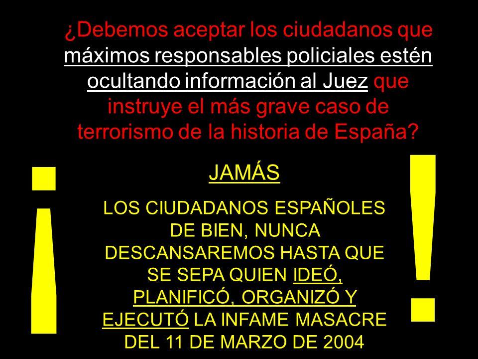 ! ¡ PREFERIMOS CONFIAR EN LA JUSTICIA DE UN ESTADO DE DERECHO (si todavía existe en España) A ASALTAR LAS SEDES DEL PARTIDO QUE OCUPÓ EL PODER ENGAÑANDO Y MANIPULANDO A LA CIUDADANÍA, TAL COMO ELLOS HICIERON EN PLENA VISPERA ELECTORAL, EL 14 DE MARZO DE 2004, CONTRAVINIENDO LA LEY ORGÁNICA DEL RÉGIMEN ELECTORAL.