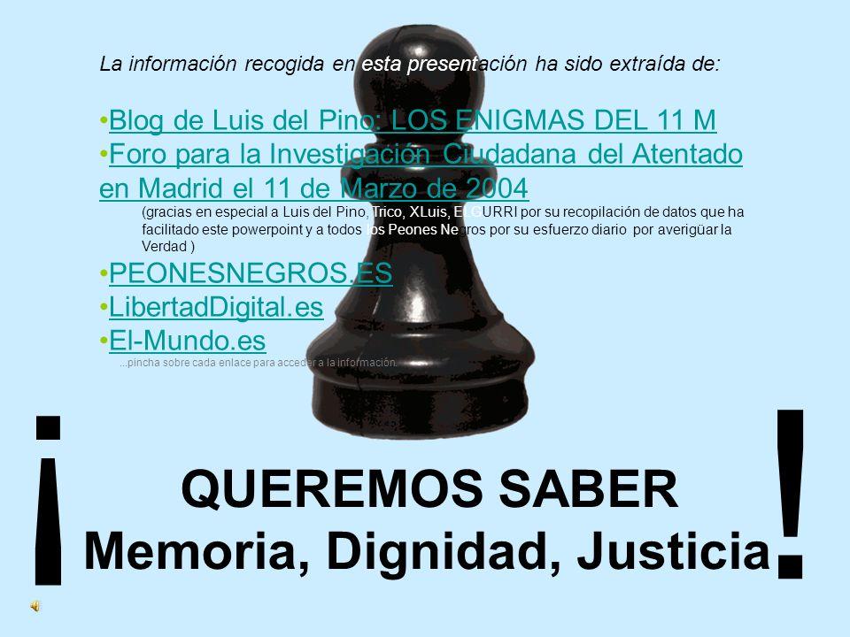 ¿Debemos aceptar los ciudadanos que máximos responsables policiales estén ocultando información al Juez que instruye el más grave caso de terrorismo de la historia de España.
