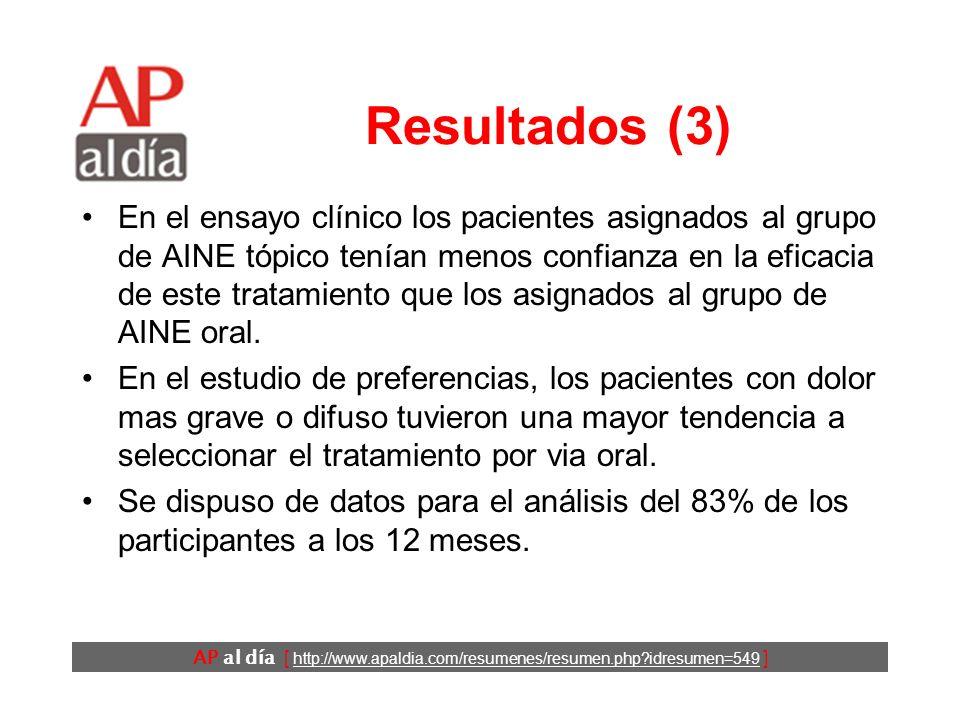 AP al día [ http://www.apaldia.com/resumenes/resumen.php idresumen=549 ] Resultados (2) Edad media: 64 años.