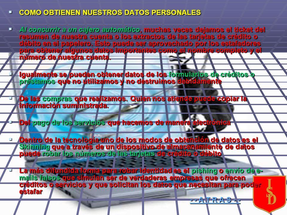 EJEMPLOS CLAROS DE LOS FRAUDES QUE OPERAN EN INTERNET EJEMPLOS CLAROS DE LOS FRAUDES QUE OPERAN EN INTERNET Subastas en internet: Es la más común de las estafas.