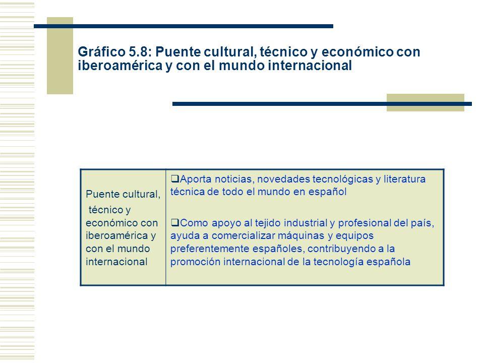 Gráfico 5.8: Puente cultural, técnico y económico con iberoamérica y con el mundo internacional Puente cultural, técnico y económico con iberoamérica