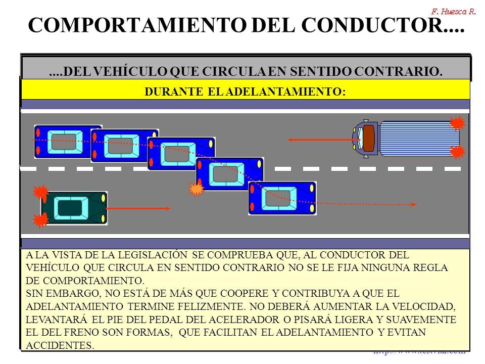 http://www.testvial.com COMPORTAMIENTO DEL CONDUCTOR........DEL VEHÍCULO QUE CIRCULA EN SENTIDO CONTRARIO. NO AUMENTAR LA VELOCIDAD. DURANTE EL ADELAN