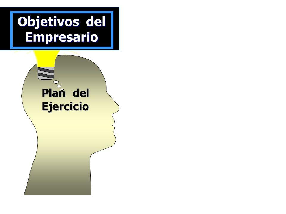 Plan del Ejercicio Objetivos del Empresario