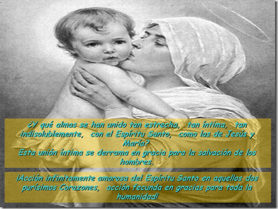 La maternidad divina pone a María en comunicaciones íntimas con las tres divinas Personas. Al Padre le dice: Yo soy real y verdaderamente la Madre de