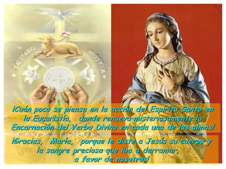 III Jesús vino al mundo por el Espíritu Santo; María recibió a Jesús por medio del Espíritu Santo. Y yo ¿Cómo recibo al Espíritu Santo? ¿Cómo me lo da