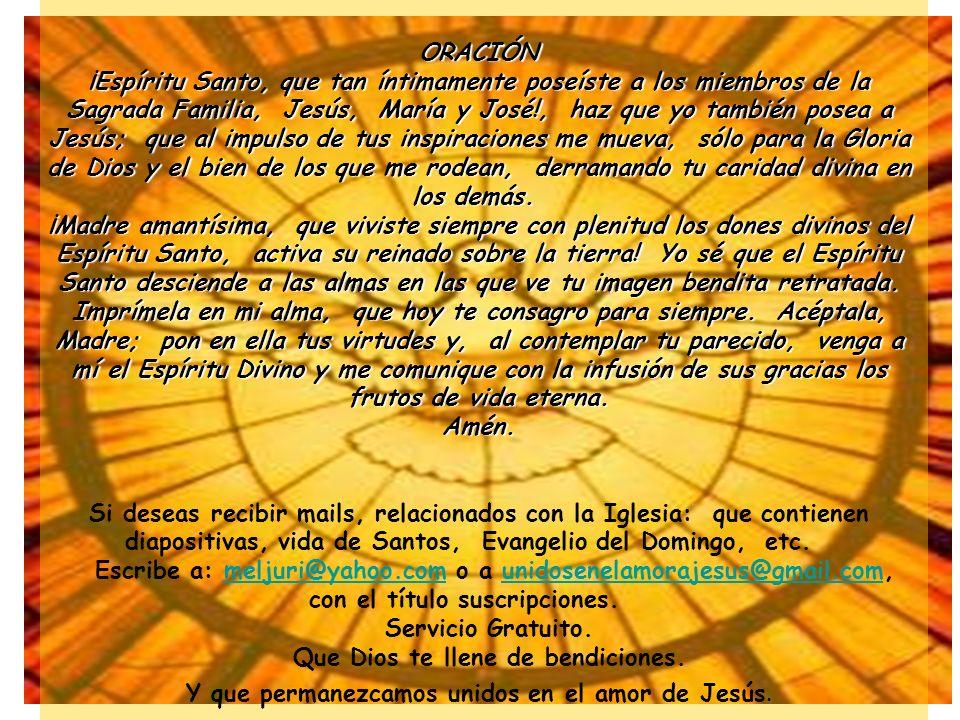 ¡Cuán poco se piensa en la acción del Espíritu Santo en la Eucaristía, donde renueva misteriosamente la Encarnación del Verbo Divino en cada una de la