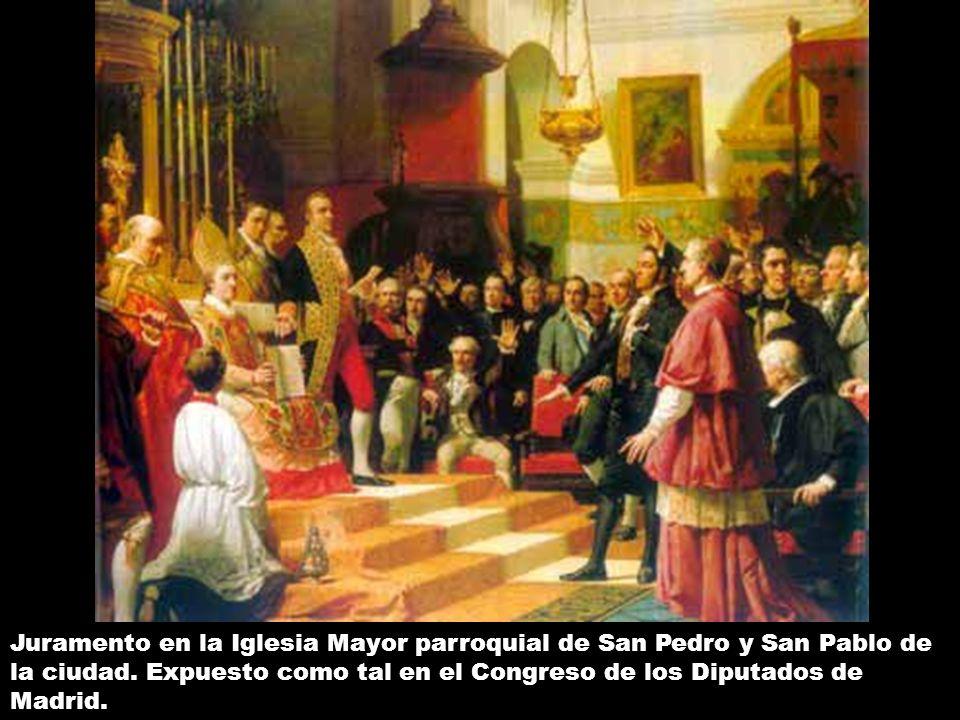 Fachada de la Iglesia Mayor Parroquial de San Pedro y San Pablo, sita en la calle Real de San Fernando y sede del juramento de las primeras Cortes Españolas.
