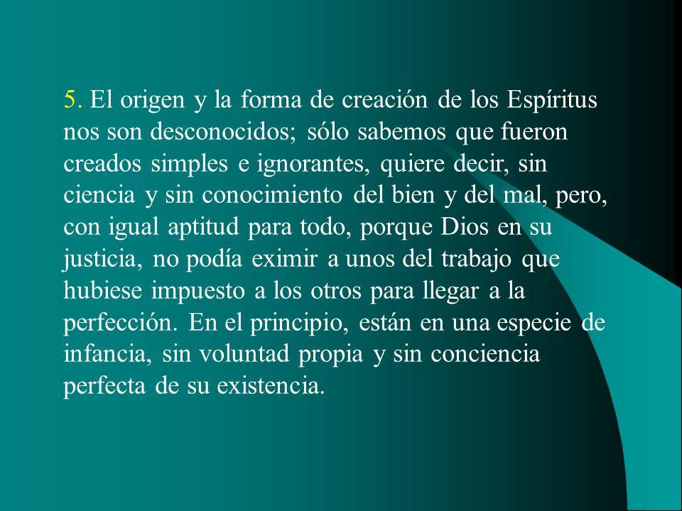 3. El espíritu, propiamente dicho, es el principio inteligente; desconocemos su naturaleza; para nosotros, él es inmaterial, porque no tiene ninguna a