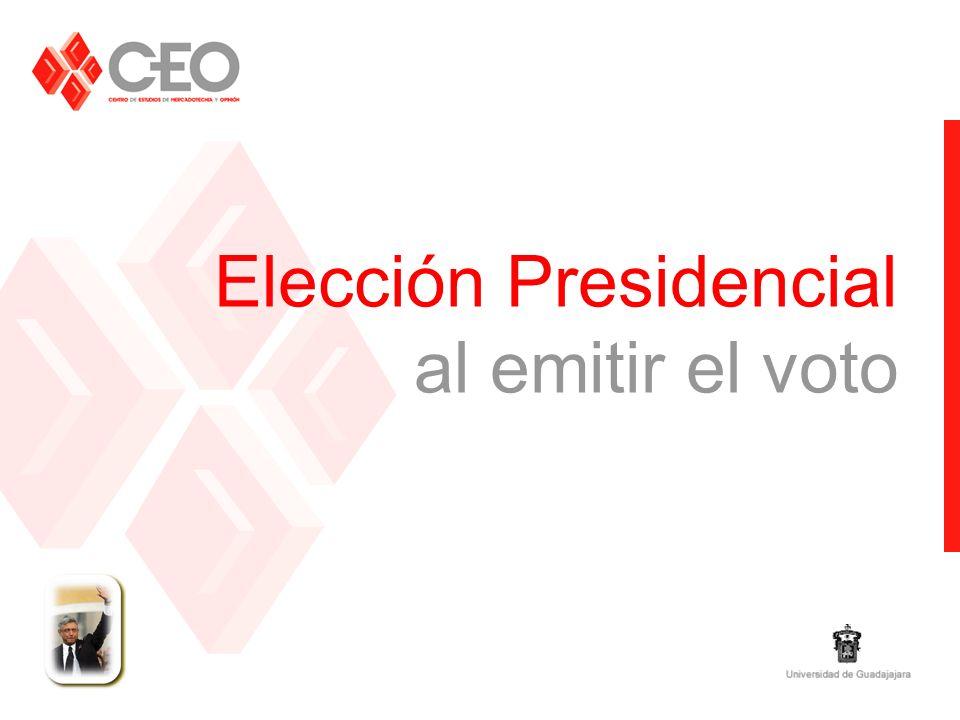 Elección Presidencial al emitir el voto