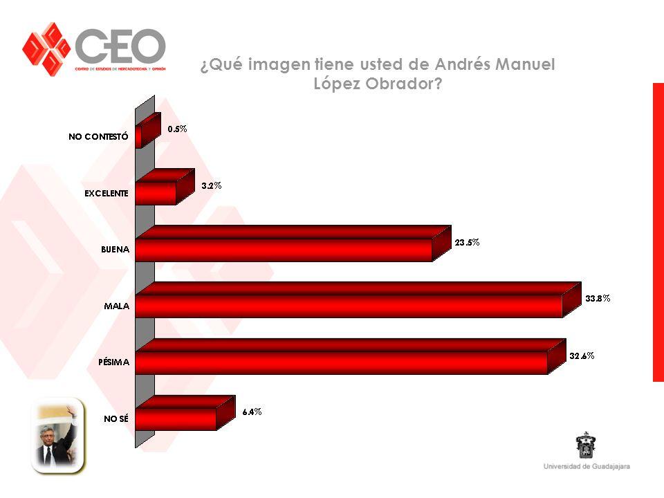 ¿Qué imagen tiene usted de Andrés Manuel López Obrador?