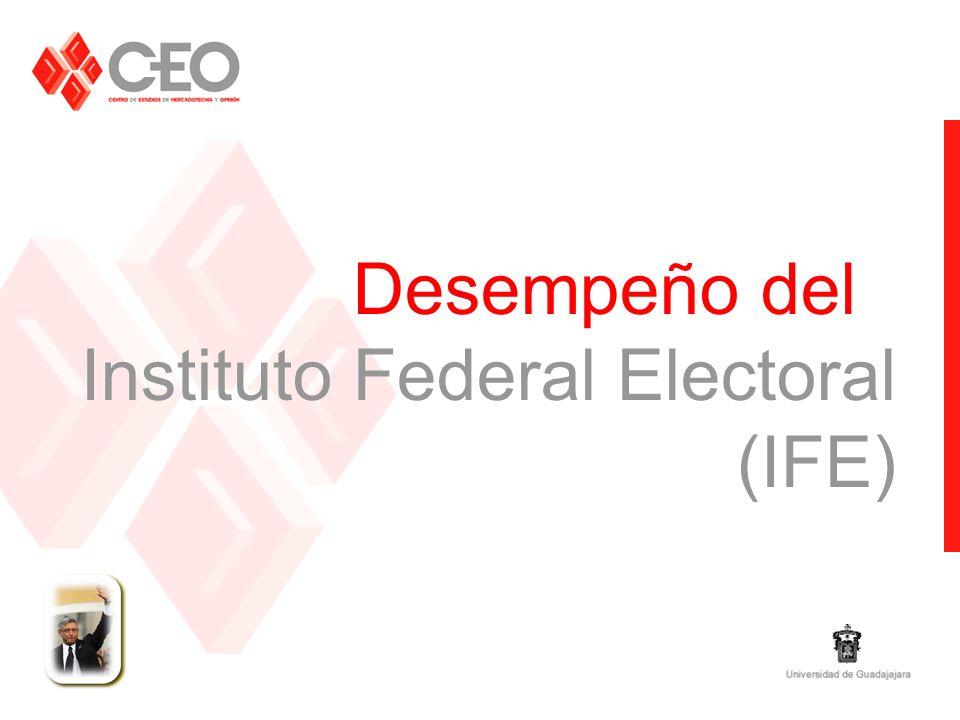 Desempeño del Instituto Federal Electoral (IFE)