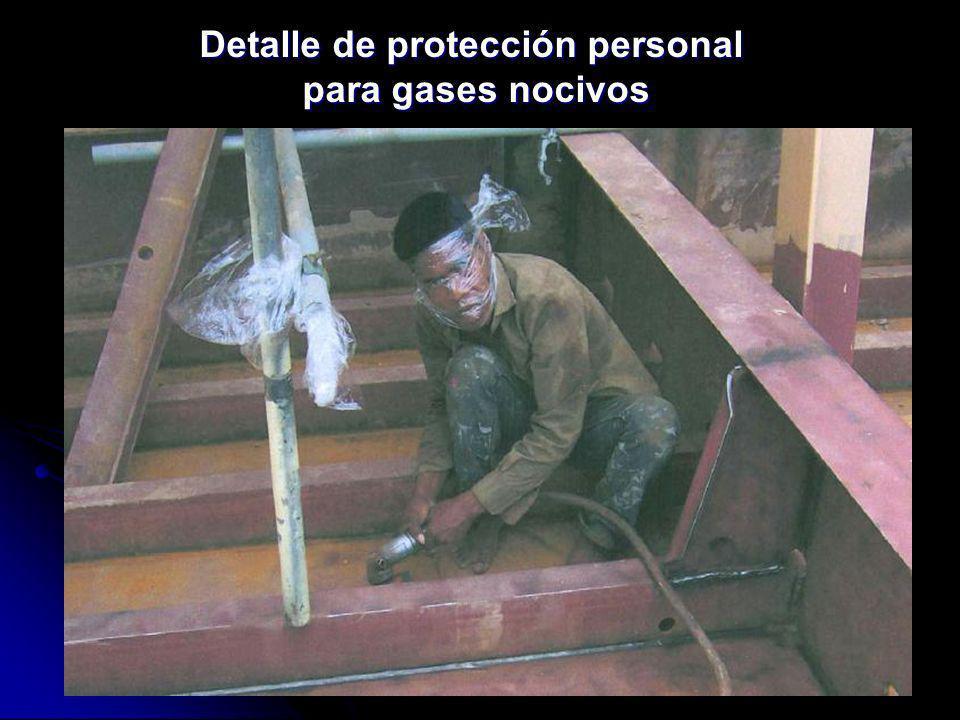 Detalle de protección personal para gases nocivos