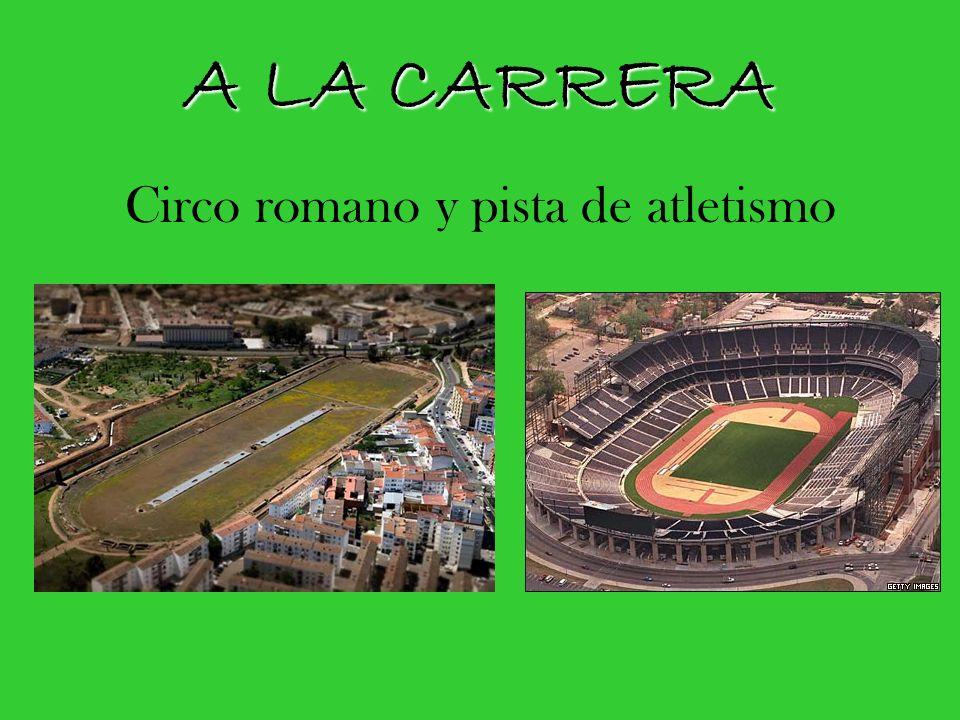 A LA CARRERA Circo romano y pista de atletismo