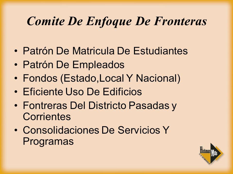 Comite De Enfoque De Fronteras Patrón De Matricula De Estudiantes Patrón De Empleados Fondos (Estado,Local Y Nacional) Eficiente Uso De Edificios Font