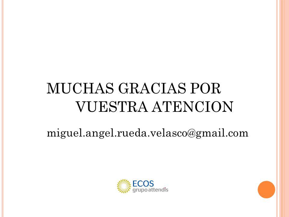MUCHAS GRACIAS POR VUESTRA ATENCION miguel.angel.rueda.velasco@gmail.com