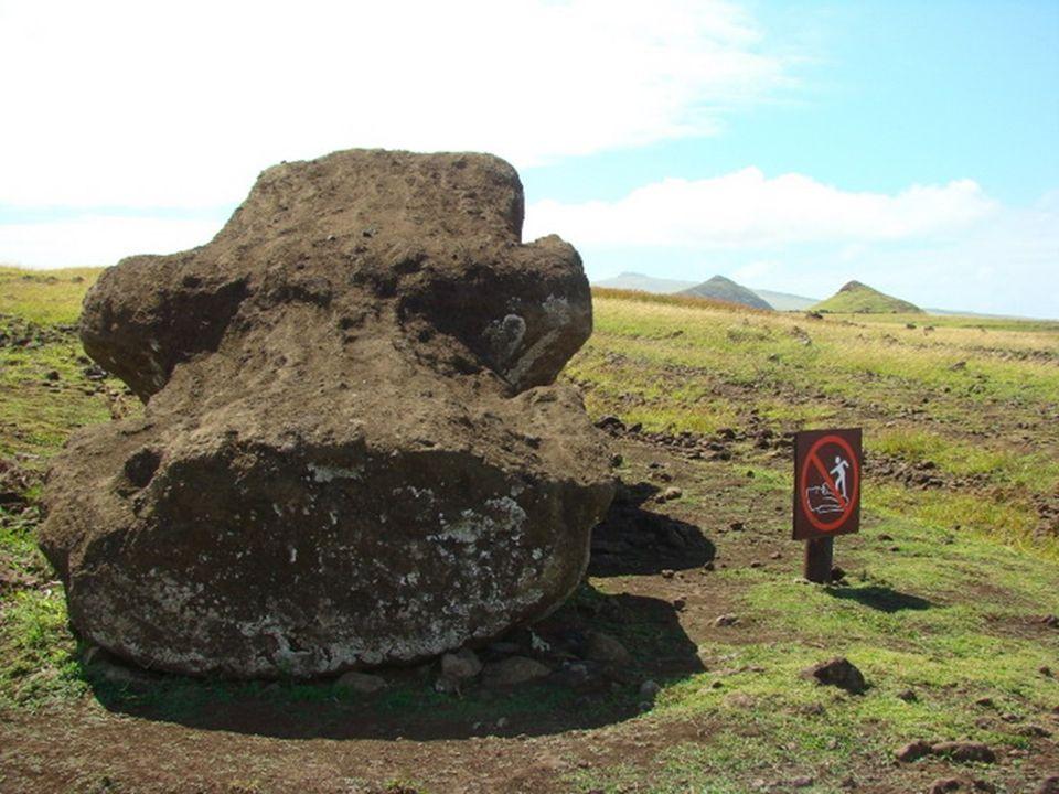 Moái es una palabra del lenguaje autóctono, rapanui, que significa escultura. Cerca del volcán Rano Raraku, se encuentra la cantera de la que quien co