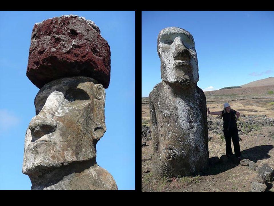 Montañas enteras fueron derribadas para su construcción. Las herramientas que se emplearon para tallar las piedras volcánicas fueron hechas de obsidia