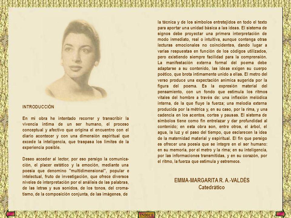 ÍNDICE SALIR REINICIAR Autora de las poesías: Emma-Margarita R.