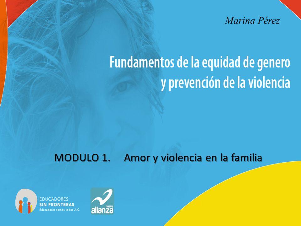 MODULO 1. Amor y violencia en la familia Marina Pérez