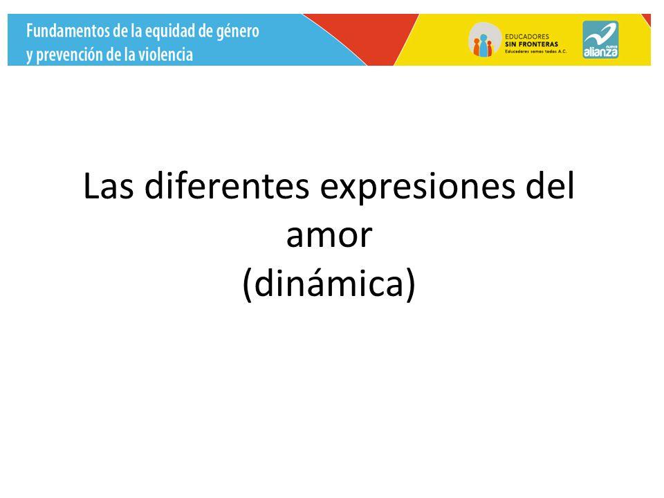 Las diferentes expresiones del amor (dinámica)