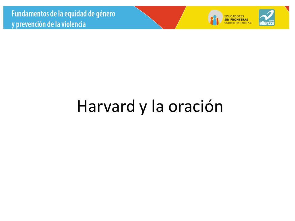 Harvard y la oración