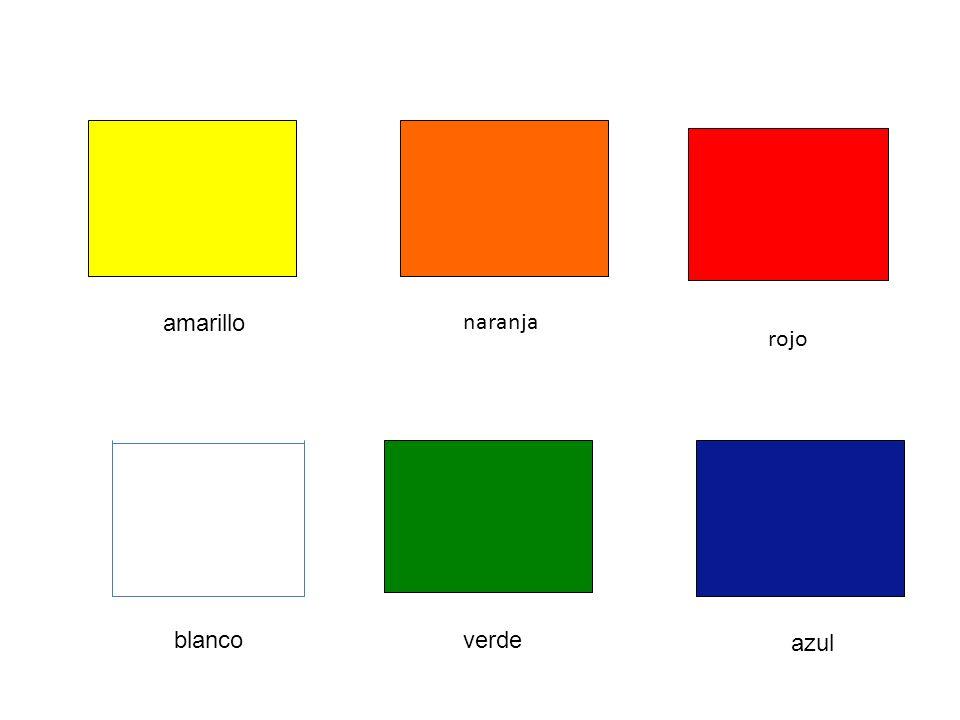 amarillo blanco rojo naranja verde azul
