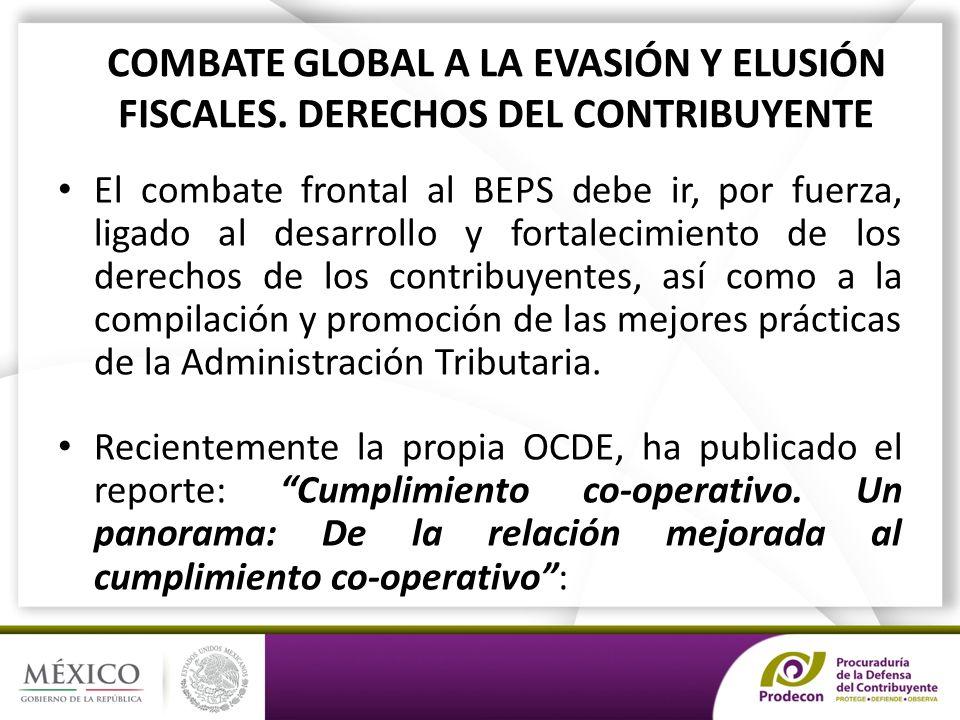 COMBATE GLOBAL A LA EVASIÓN Y ELUSIÓN FISCALES.