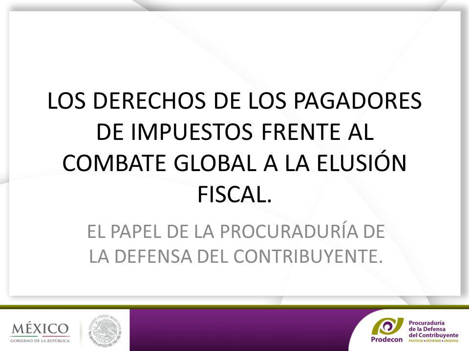 LOS DERECHOS DE LOS PAGADORES DE IMPUESTOS FRENTE AL COMBATE GLOBAL A LA ELUSIÓN FISCAL.