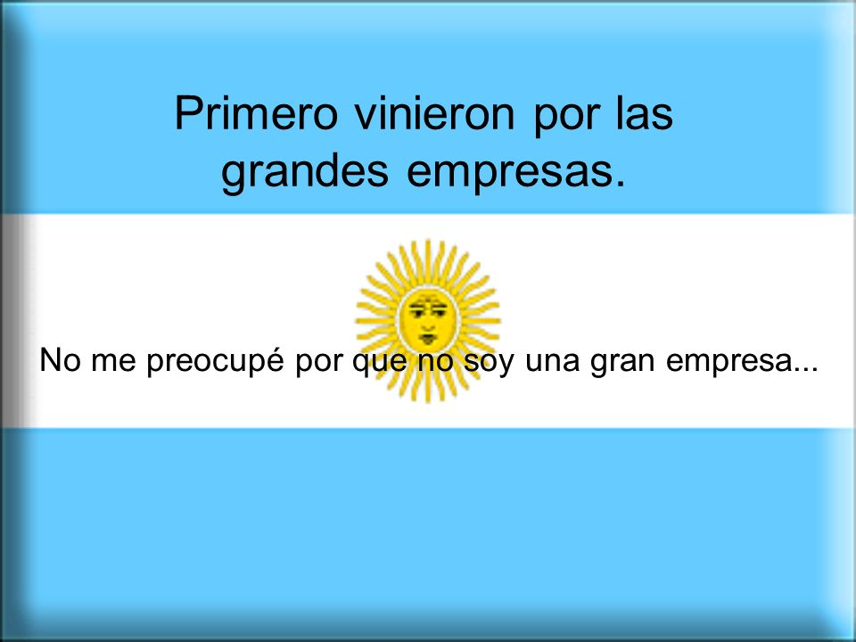 Pedimos que nos dejen en paz por que cuando al campo le va bien, a la Argentina le va bien.